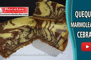 Queque marmoleado cebra - Vídeos de Recetas de tortas y pasteles