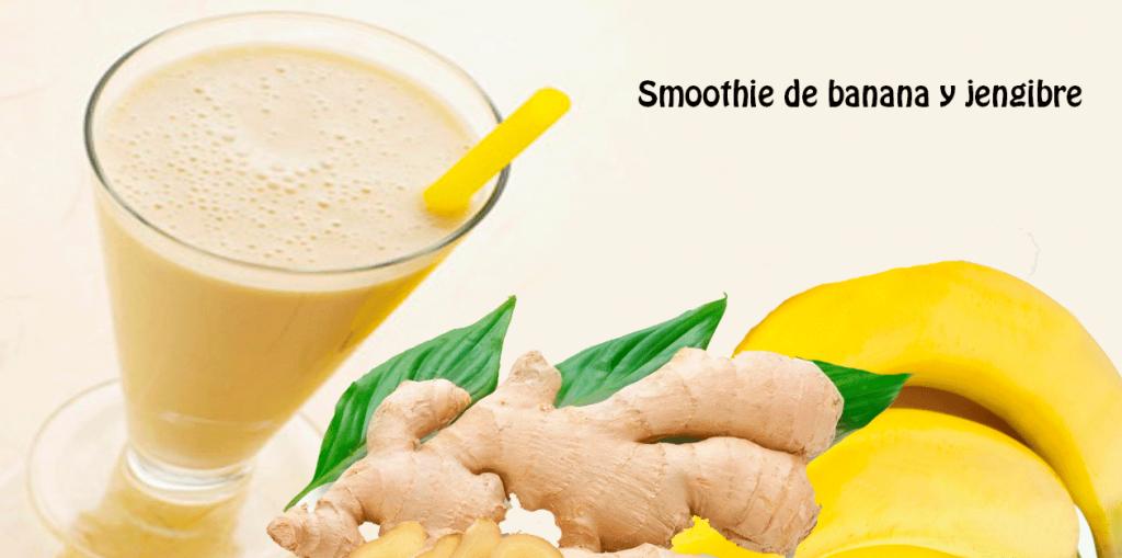 Smoothie de banana y jengibre✅es bueno para una digestión efectiva, ayuda con la acidez y otros problemas estomacales y además es riquísimo y súper fácil de hacer
