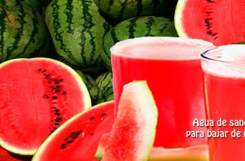 Agua de sandía para bajar de peso - Bebidas para adelgazar