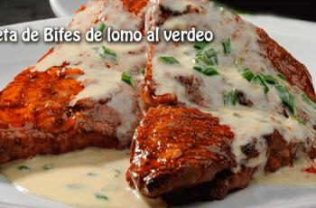 Receta de Bifes de lomo al verdeo - Recetas de carnes