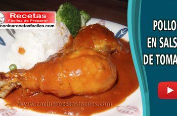 Pollo en salsa de tomate - recetas caseras de pollo