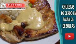 Chuletas de cerdo en salsa de cebolla - Vídeo recetas de carne de cerdo