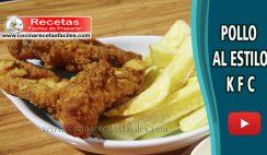 Pollo al estilo KFC rápido y fácil - Vídeo recetas caseras de pollo