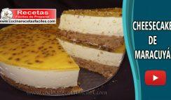 Cheesecake de Maracuyá - Vídeo recetas de postres y pasteles fáciles