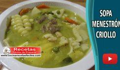 Menestrón criollo - Vídeo recetas de sopas y cremas