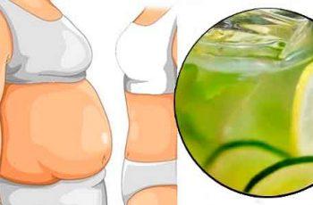 Aplana la barriga con Agua de Pepino y limón