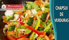 Chapsui de verduras - Recetas caseras saludables