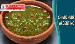 Chimichurri argentino - Recetas de salsa y cremas
