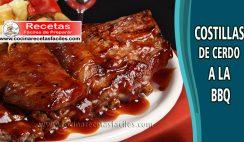 Costillas de cerdo a la BBQ - Recetas de carne de cerdo