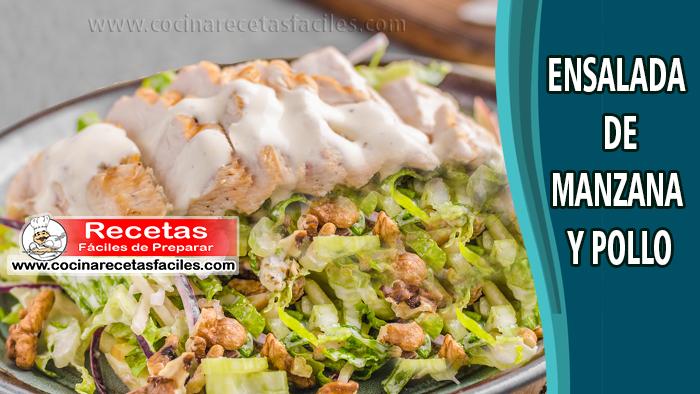 Ensalada de manzana y pollo - Recetas de ensaladas