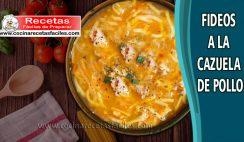 Fideos a la cazuela con pollo - Recetas de sopas y cremas