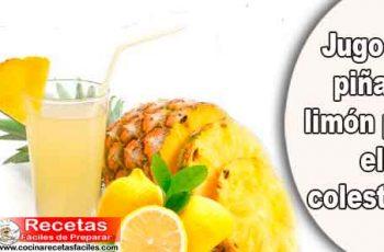 Jugo de piña y limón para el colesterol
