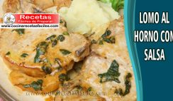 Lomo al horno con salsa - Recetas de carnes de cerdo