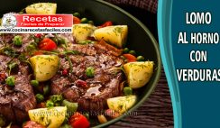Lomo al horno con verduras - Recetas de carnes de cerdo