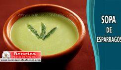 Sopa de espárragos casera - Recetas de sopas y cremas