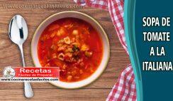 Sopa de tomate a la italiana- Recetas de sopas y cremas
