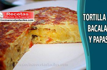 Tortilla de bacalao y papas - Recetas de huevos y tortillas