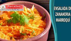 ensalada de zanahoria marroquí