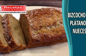 Bizcocho de plátano y nueces - Receta de tortas y pasteles