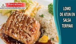 Lomo de atún en salsa teriyaki - Recetas de pescados y mariscos