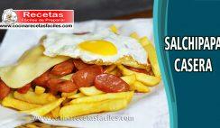 Salchipapa casera - Recetas de entradas y aperitivos