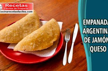 Receta de empanadas argentinas de jamón y queso