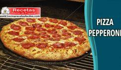 Pizza pepperoni casera - Recetas de pastas, lasañas y pizzas