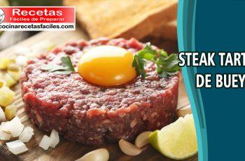 Receta de Steak tartar de buey - cocinarecetasfaciles.com