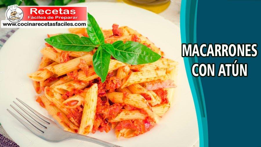 Receta De Macarrones Con Atún Cocina Recetas Fáciles
